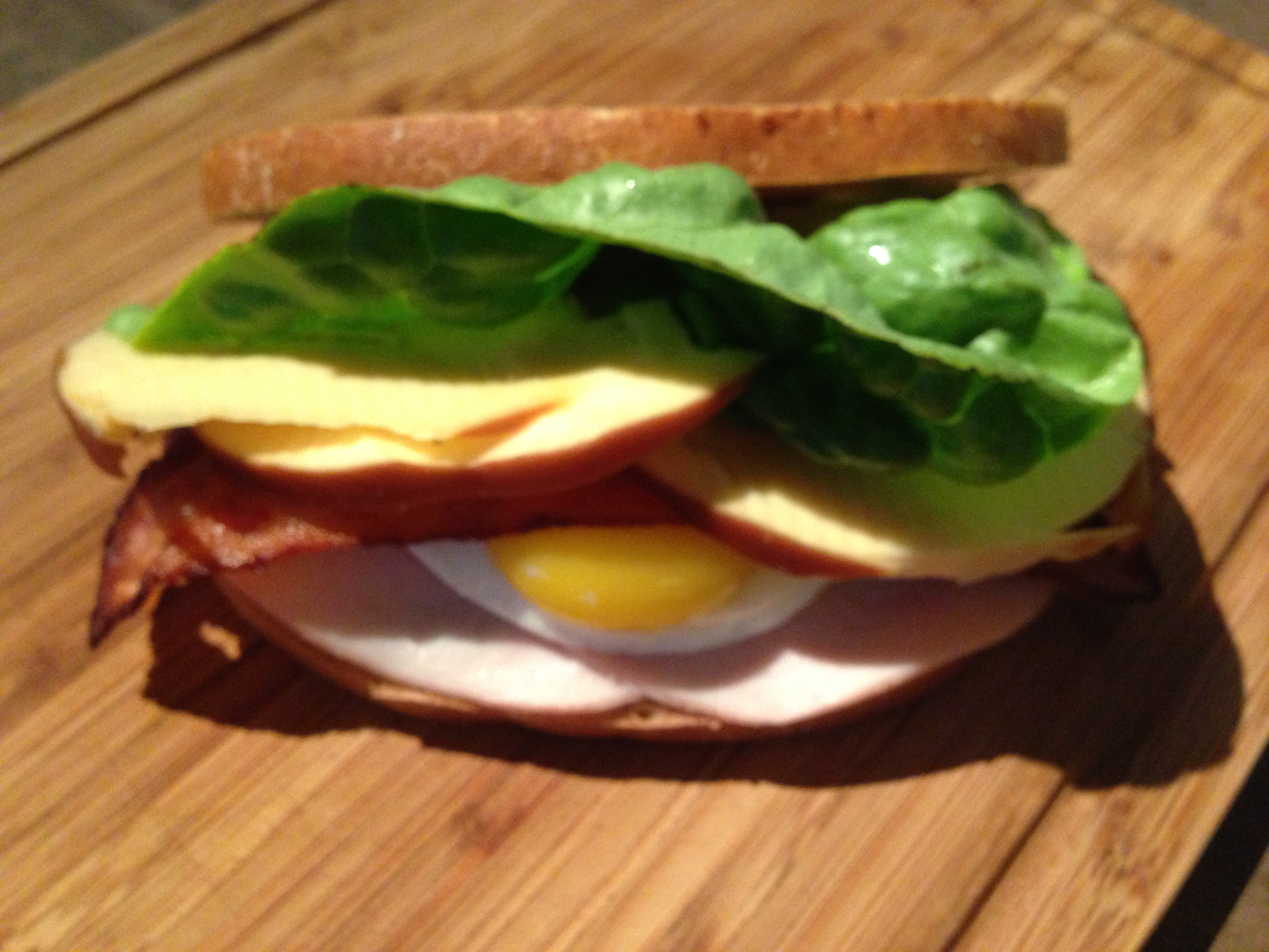 Spanglish Sandwich BLT Egg Yolk